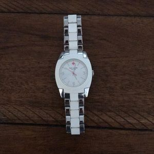 Kate Spade White and Silver Watch